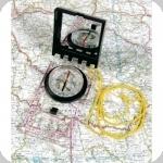 Boussole Scout de Carte avec Règle Couvercle et loupe - DINGO