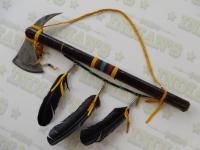 Tomahawk Amérindien recouvert de Rawhide à double lame