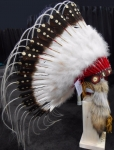 Coiffe indienne Navajo de 36 pouces  Made in USA  ( Mod.GOLDEN TEAR )