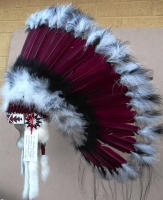 Coiffe indienne Navajo de 36 pouces  Made in USA ( Mod.SACRED MESA )