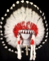 Coiffe indienne Navajo de 36 pouces  Made in USA ( Mod. SMOKE SIGNAL )