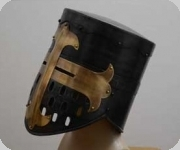 Casque heaume Templier chevalier noir