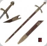 Epée Richard Cœur de Lion 12 ème S   de 105 cm / Marron