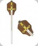 Epée d'ornement ALBA doré de 74.5 cm