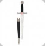 Dague Médiévale Templière Argentée  de 36 cm