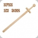 Epée en bois d'entrainement