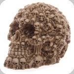Crâne tête de mort décor crane multiple