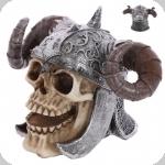 Crane tête de mort  Casque Viking avec Corne