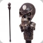 Baton (canne) de Magicien  avec crane bronze de 96 cm