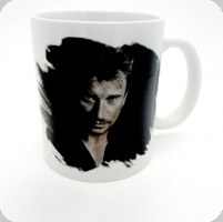Mug Johnny en noir et blanc