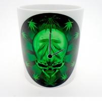 MUG  «  Horloge skull cannabis   »