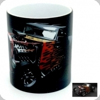 Mug  Roadster Ford flammes orange