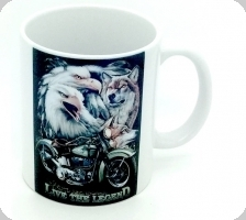 Mug « Aigle  Loup Live The Legend »