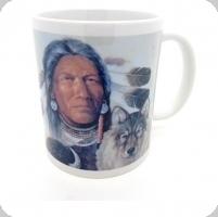 Mug «Guerrier indien et loup »