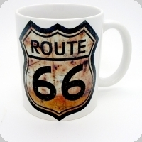 Mug Route 66 Rouille