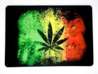Tapis de souris  «  Drapeau feuille Cannabis »