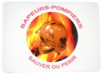 Tapis de souris   «Sauver ou perir casque flamme »