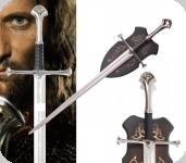 Epée d'ANDURIL avec socle bois  Le Seigneur des Anneaux
