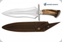 Couteau de chasse  38 cm  manche corne de cerf