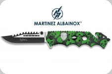 Couteau Pliant squelette vert   Lame de 8.5 cm