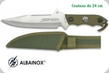 Couteau Tactique HORIZON Vert 24 cm