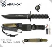 Couteau de survie / combat king1 Noir