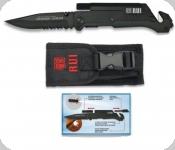 Couteau RUI Spécial Pompier Noir