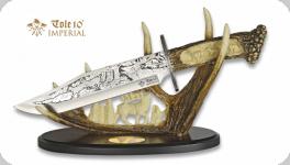 Couteau  fantaisie Décoré Cerf   de  37 cm