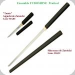 Shirasaya + Aiguchi  de Zatoichi     Lame MARU * Fudoshin *