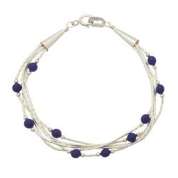 Bracelet 5 Fils Perles de Lapis Lazuli