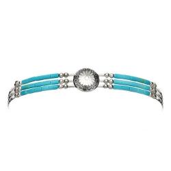 Bracelet 3 Fils Conchas Turquoise
