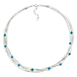 Collier 5 Fils  Perles de Turquoise