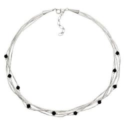 Collier 5 Fils  Perles de Onyx
