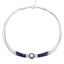 Collier 3 Fils + Choker Lapis-Lazuli