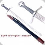 Epée  de Frappe trempée  avec fourreau cuir