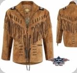 Veste à franges Western Buffalo