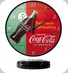 Horloge Vintage Coca Cola  Vert et rouge de 31 cm