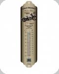 Thermomètre Vintage Harley Davidson  beige de 28 cm