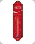 Thermomètre Vintage Coca cola  Fond rouge  de 28 cm