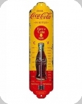 Thermomètre Vintage Coca cola  Jaune et rouge  de 28 cm