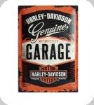 Plaque métal publicitaire vintage  Harley Davidson Garage  de 60 x 40 XL