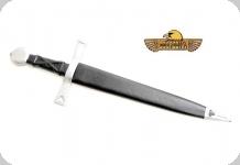 Dague Gothique  forgée  avec fourreau cuir