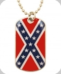 Collier plaque Drapeau Rebel