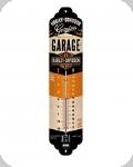 Thermomètre Vintage Harley Davidson  noir orange et beige de 28 cm