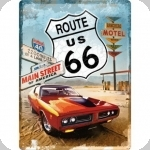 Plaque métal vintage Route 66 