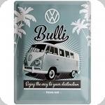 Plaque métal publicitaire vintage  WW Bulli de 40 x 30
