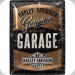 Plaque métal vintage Harley Davidson  Garage Edition Limité  de 40 x 30 XL