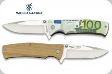 Couteau Pliant Billet de 100 euro  3D   Lame de 8.8 cm