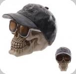 Crâne tête de mort  avec  Lunette et Casquette