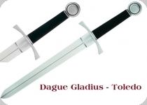 Dague de Combat DES CROISES  avec fourreau cuir